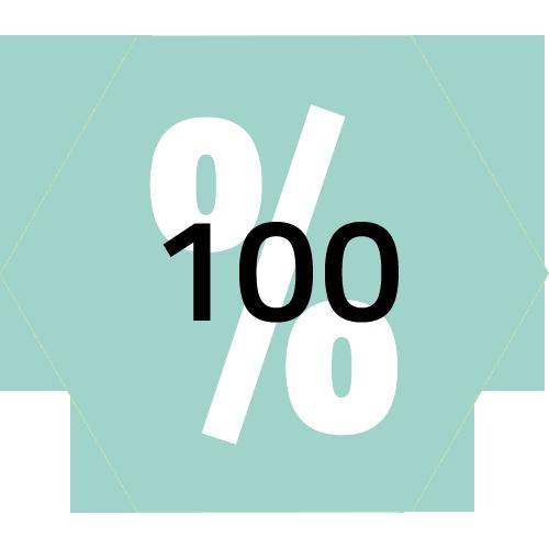 Prozentangaben 100 türkis