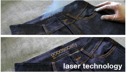 USED Look durch Laser-Technologie Jeans von Good Society; FOTO: Good Society
