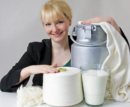 Textilfasern aus entsorgter Milch: Anke Domaske von QMilch; FOTO: QMilch