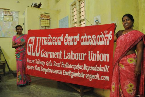 GLU Frauengewerkschaft in Indien; FOTO: FEMNET e.V.