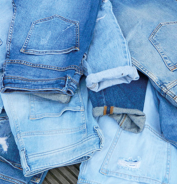 JEANS IN USED-LOOK